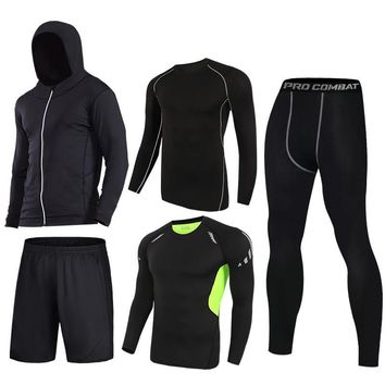 Survetement 2018 New Jogging Suit Men Quick dry Running Sports Set Basketball Compression Yoga Fitness Set Sport Clothes For Men