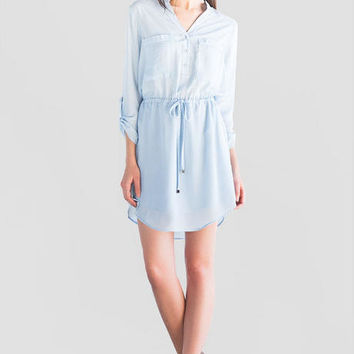 Regina Buttoned Shirt Dress