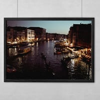 SALE Venice Photography Fine Art Print | Floating City at Dusk | Mediterannean Decor | Archival Ink & Paper Canvas Metal Free Shipping USA