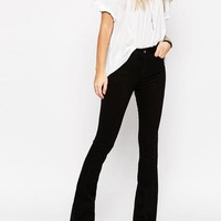 ASOS | ASOS Bell Flare Jeans In Clean Black With Pressed Crease at ASOS