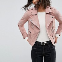 ASOS Suede Biker Jacket at asos.com