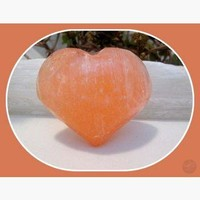 """Stone of the Moon"" Orange Selenite Heart"