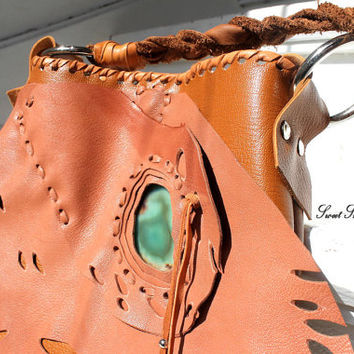 Butterfly wing elvish bag purse bohemian gypsy leather purse moth wing OOAK fairy bag cosplay bag elf rusted brown purse orange color bag
