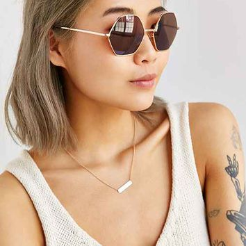 Mimi Geo Round Sunglasses- Gold One
