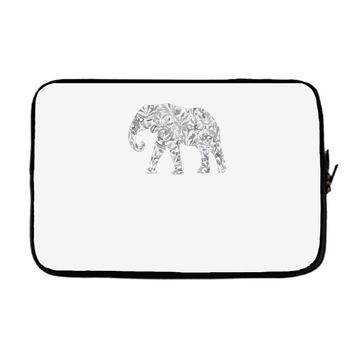 elephant filled pattern cool Laptop sleeve