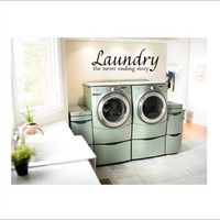 Laundry Room Vinyl Wall Decal Large Vinyl Wall Decor 16x46
