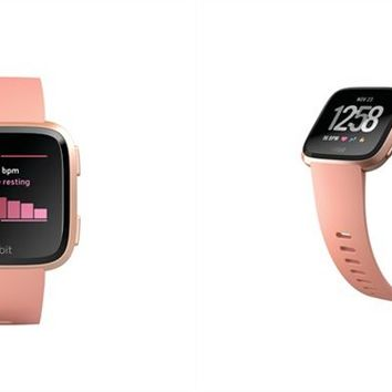 Fitbit Versa Smartwatch - Rose Gold Aluminum Case and Peach Band by Fitbit | Fitness Trackers Gifts | chapters.indigo.ca