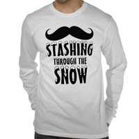 Funny Stashing Through the Snow Jersey Long Sleeve from Zazzle.com