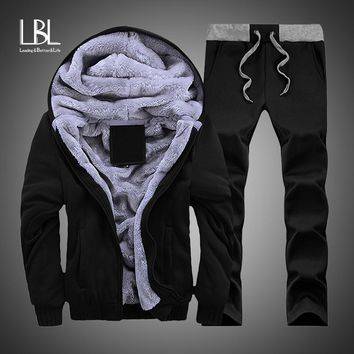 Thicken Fleece Hoodies Men Winter Warm Sweatshirts Plus Velvet Hoodie Fur Jackets Parkas Fashion Casual Cardigan Hoody Outwears