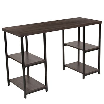 Homewood Collection Console Table with Black Metal Frame