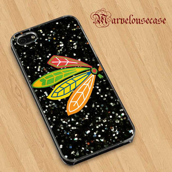 NHL Chicago Blackhawks on Sparkle custom case for all phone case
