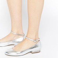 ASOS MORELLA Ankle Strap Flat Shoes