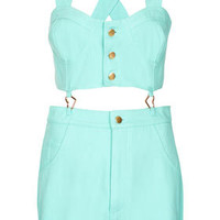 **Dungaree Playsuit by Lashes Edit - Clothing Brands  - Clothing