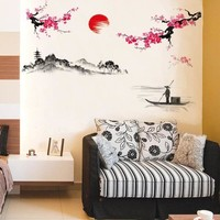 Sunset in Japan Wall Mural