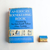 Vintage housekeeping book – retro household hints – advice for housewives – home maintenance book