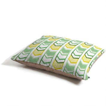 Heather Dutton Right Direction Lemon Lime Pet Bed