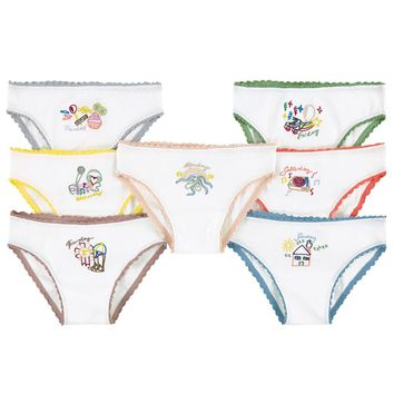 Stella McCartney Girls White Underwear Seven-Pack Gift Set