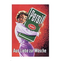 PERSIL vintage ad poster AUSTRIA 1955 24X36 COLLECTORS top shelf SEXY
