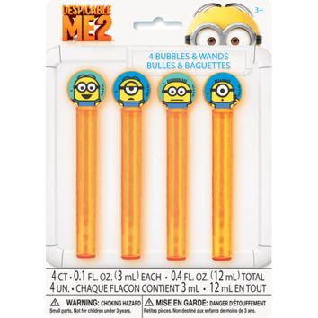 Despicable Me Bubbles and Wands Party Favor [4 per Pack]