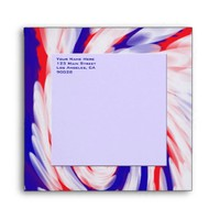 red white and blue envelopes