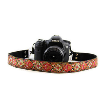 CASLR15-RSBG Rose Baroque 1.5In Camera Strap - Capturing Couture