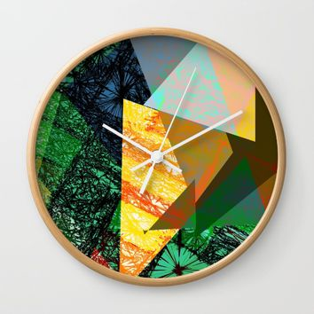 Rhythm in Green Wall Clock by SagaciousDesign
