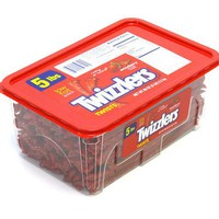 Twizzlers Strawberry Twists - 5 lb tub