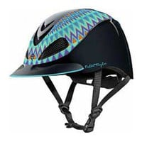 Fallon Taylor Barrel Racing Helmet Turquoise Aztec Troxel ( - Supplies Tack - Safety - Helmets)