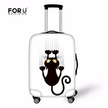 FORUDESIGNS Cat Printing Suitcases Protective Covers Elastic Perfectly Cute Luggage Cover High Quality Fashion  Women Travel New