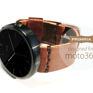 Handmade Leather Strap for moto 360