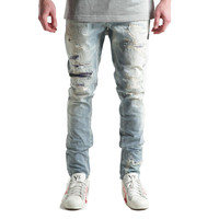 Embellish Mondial Patchwork Distressed Denim Jeans