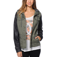 Empyre Girls Quincy Olive & Black Military Jacket at Zumiez : PDP