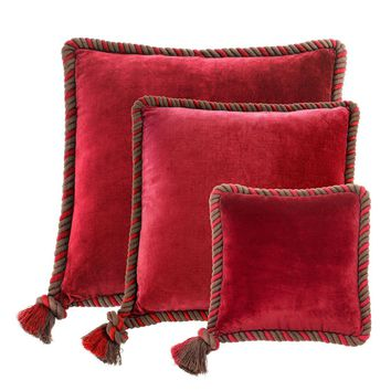 Red Velvet Pillow (Set of 3) | Eichholtz Christallo