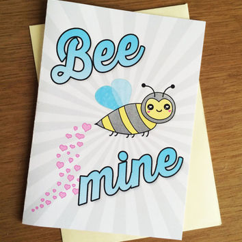 Valentine Card - Bee Mine PDF