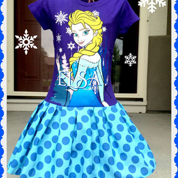 Girls Frozen Dress queen Elsa size 4 5/6 6/6X ready to ship today