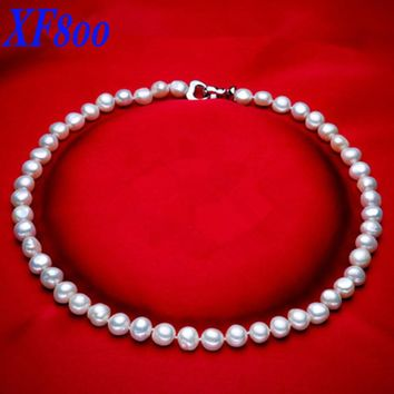 [XF800] Pearl Jewelry Fine Jewerly Baroque Freshwater Pearl Necklace Choker Necklace Natural Pearl Necklace For WomenCT007