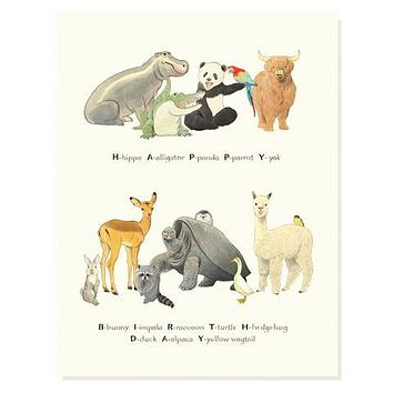 Birthday Zoo Card
