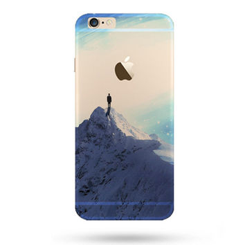 Beautiful Snowy Mountains iPhone 5S 6 6S Plus creative case + Gift Box-127