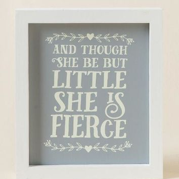 Little But Fierce Framed Box Sign | francesca's