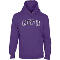 NYU Violets Arch Name Pullover Hoodie - Purple