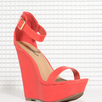 Vivi-21 Chic Two Strap Wedge