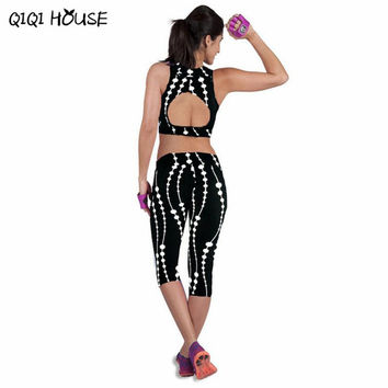 Leggings Fitness Womens Summer Casual Sweatpants Legging Printed Stretch Top Fitness legging para academia mulheres#3546