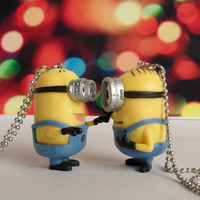 Minion Necklaces Stuart and Dave Despicable Me Jewelry