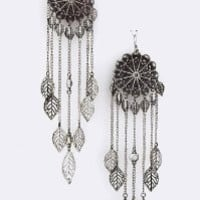 Antique Silver Dream Catcher Earrings - Dangle Dream Catcher Jewelry for Teens and Women