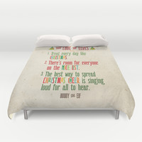 Buddy the Elf! The Code of Elves Duvet Cover by Noonday Design   Society6