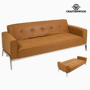 Vintage leather sofa bed - Vintage Collection by Craftenwood