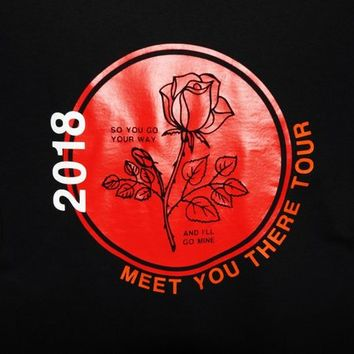 Rose Long Sleeve Meet You There Customized Tour Shirt / 5SOS / 5 Seconds Of Summer