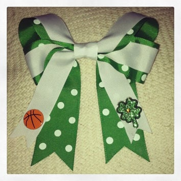 Boston Celtics Hair Bow