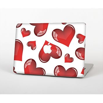 The Glossy Red 3D Love Hearts Skin for the Apple MacBook Air 13""
