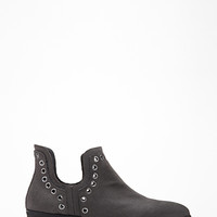 Grommeted Faux Leather Booties